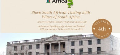 Buy your tickets now for Slurp's South African wine tasting at South Africa House
